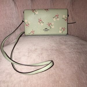 Coach fold over purse